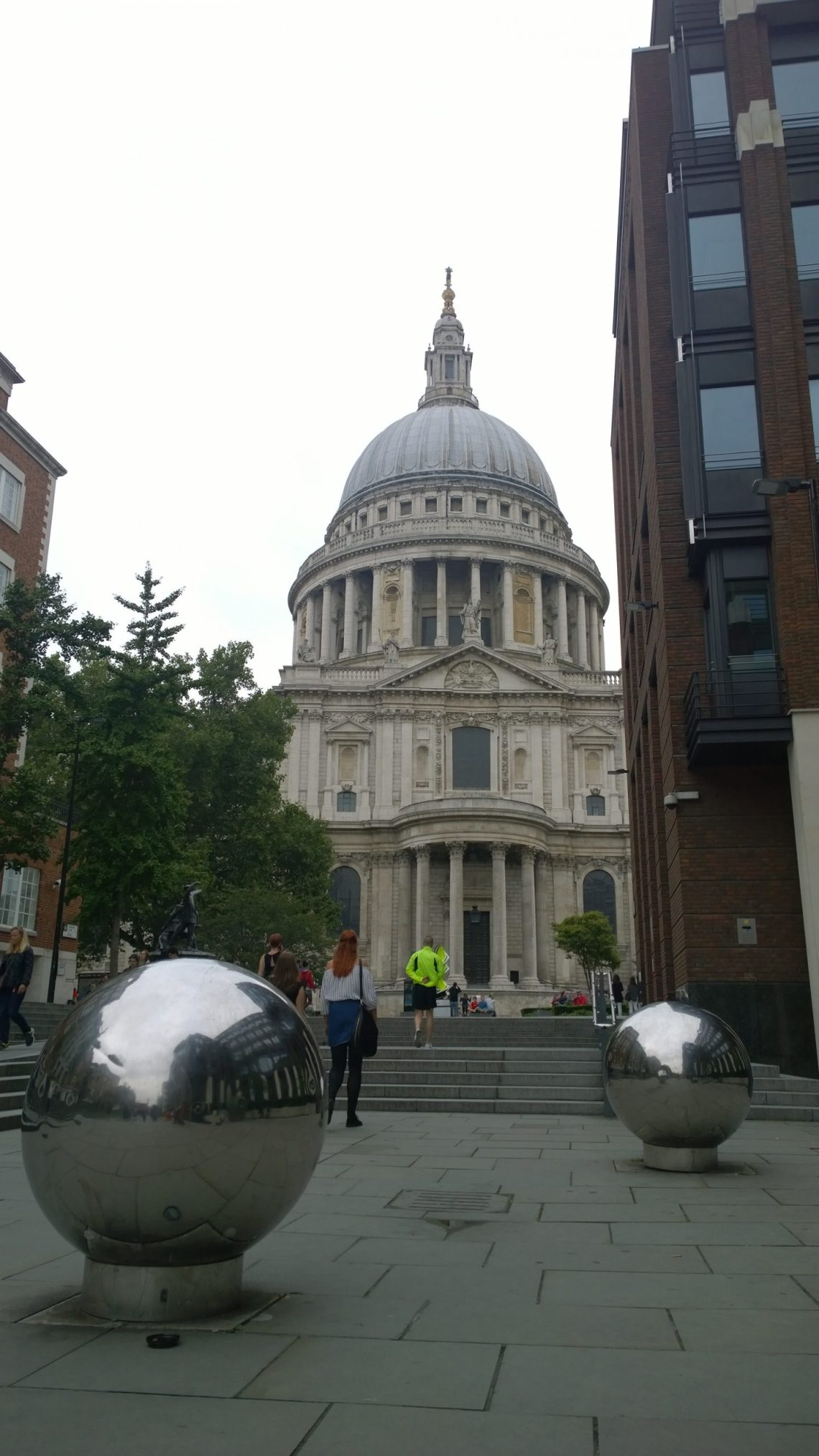 Mirrored sculptures near St. Pauls