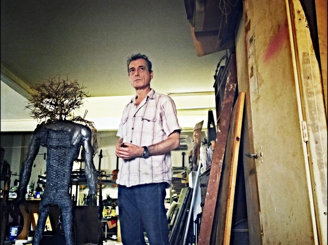 Jonesy in his studio