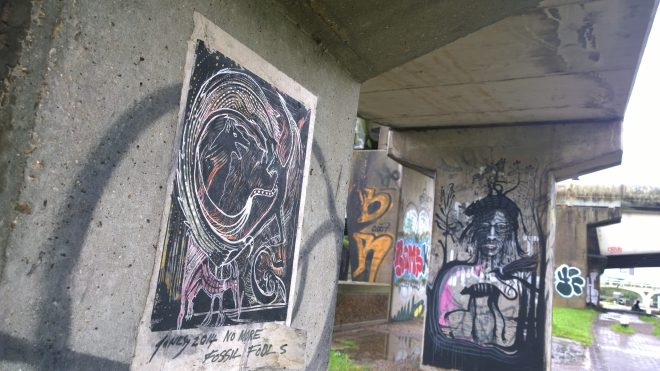 Paste ups and art by Bow Locks