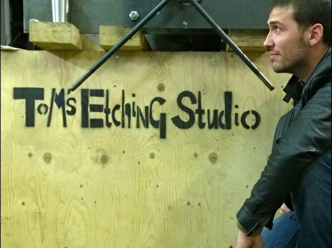 The Tom of Tom's Etching Studio