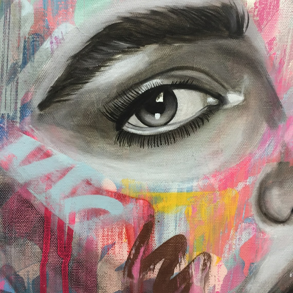 eye close up