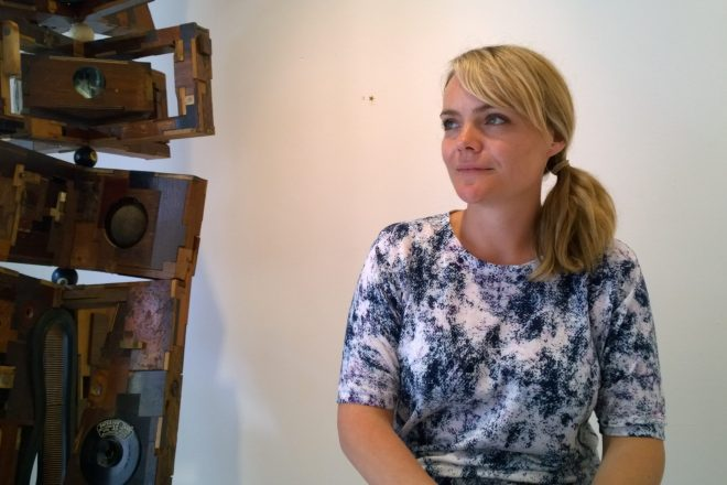 Charlotte Webster next to work from Lesley Hilling