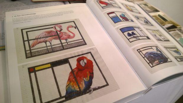 Fran Giffards birds in a brochure