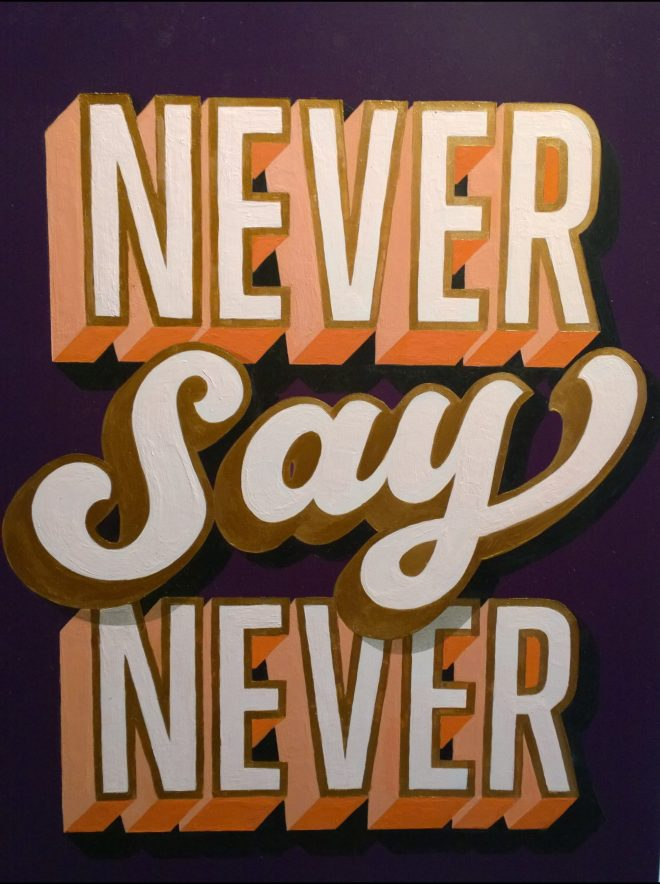 Never Say Never by Lilly Lou