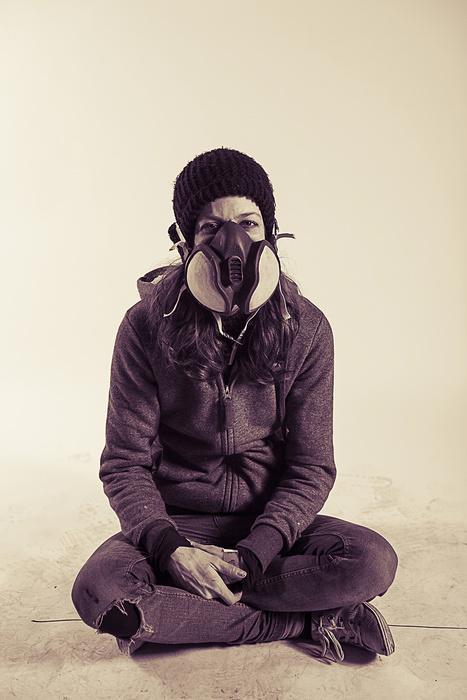 Portrait of street artist Pang