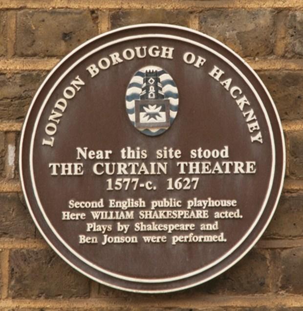 9. Hackney Curtain Theatre plaque (c) MOLA