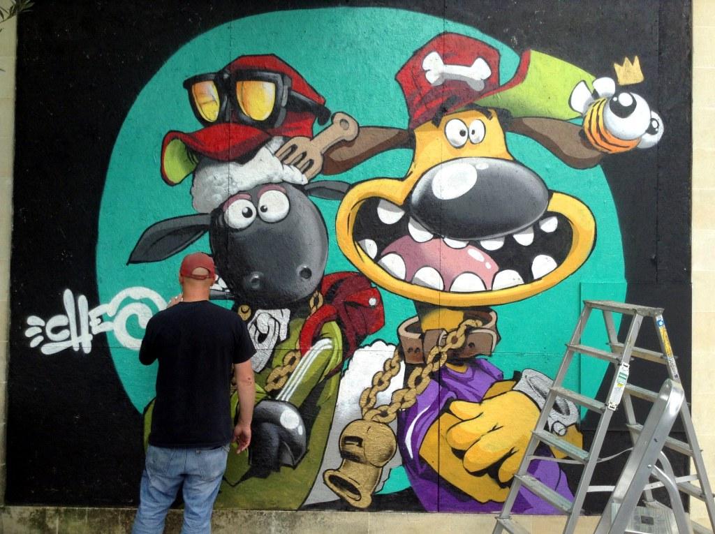 Graffiti-Kings-Artist-Cheo-Shaun the sheep