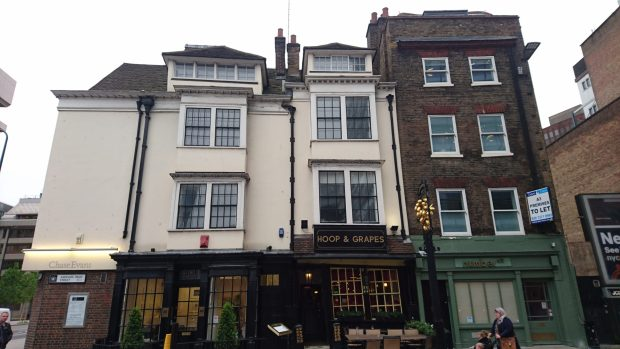 The Hoop and Grapes on Aldgate