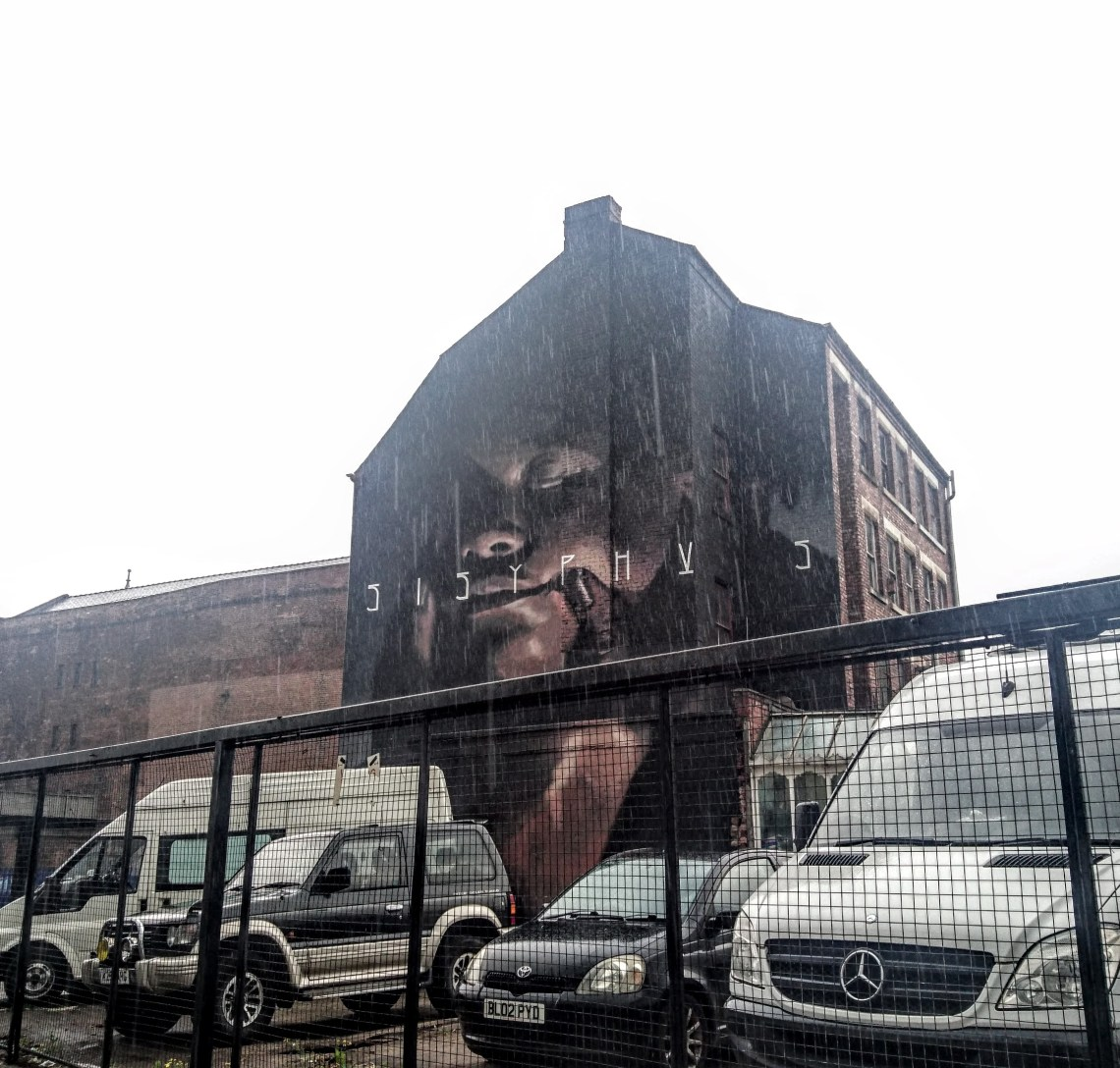 Mural by Axel Void in Manchester on Addington street. This was painted for the Cities of Hope Festival in 2016