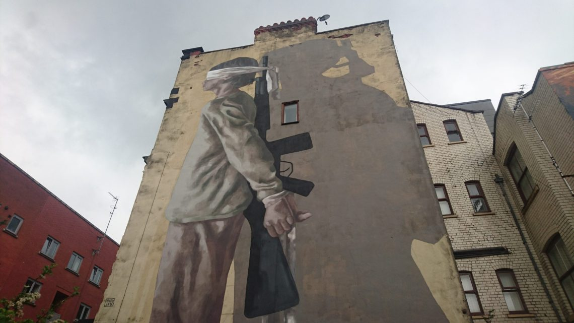 Mural by Hyuro for the Manchester Cities of Hope Festival