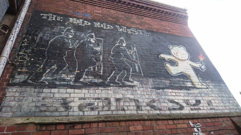 Banksy street art MIld Mild West in Bristol