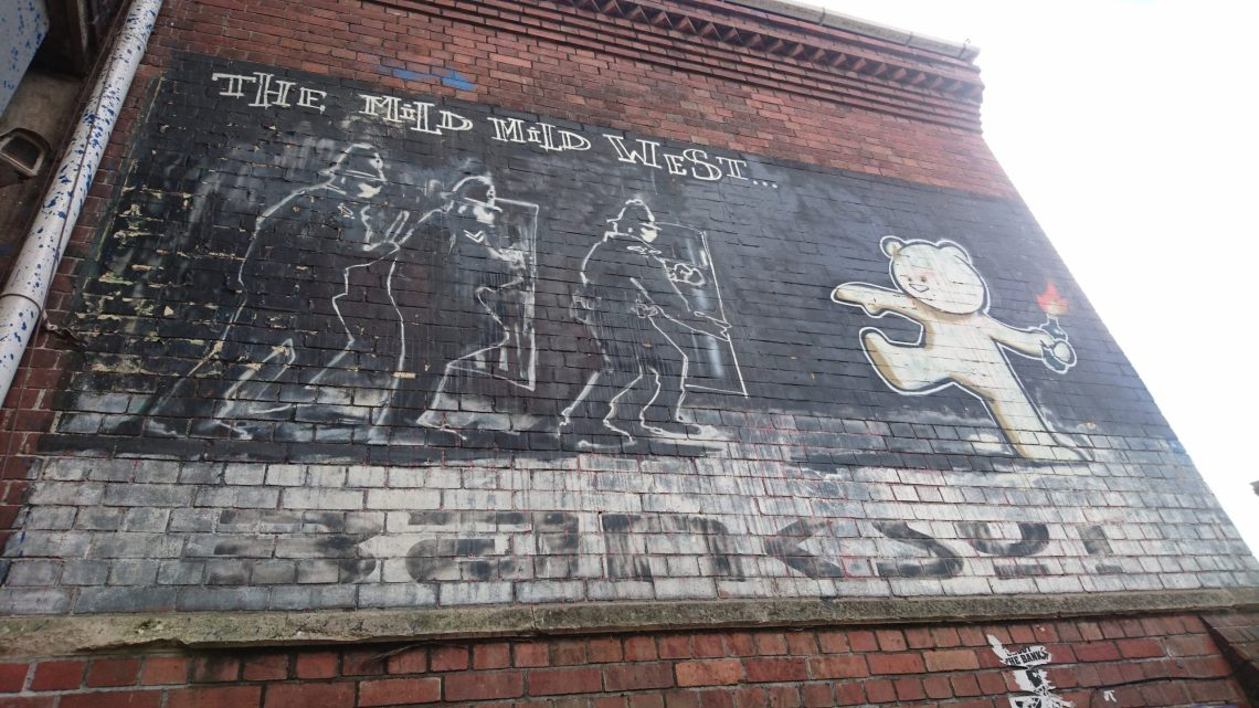 Banksy's Mild Mild West in Bristol. He is one of our best british street artists