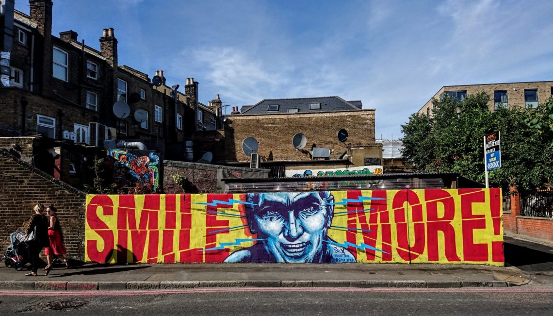 Street art by Sr.X in Dalston. He is one of the best street artists working in Britain today