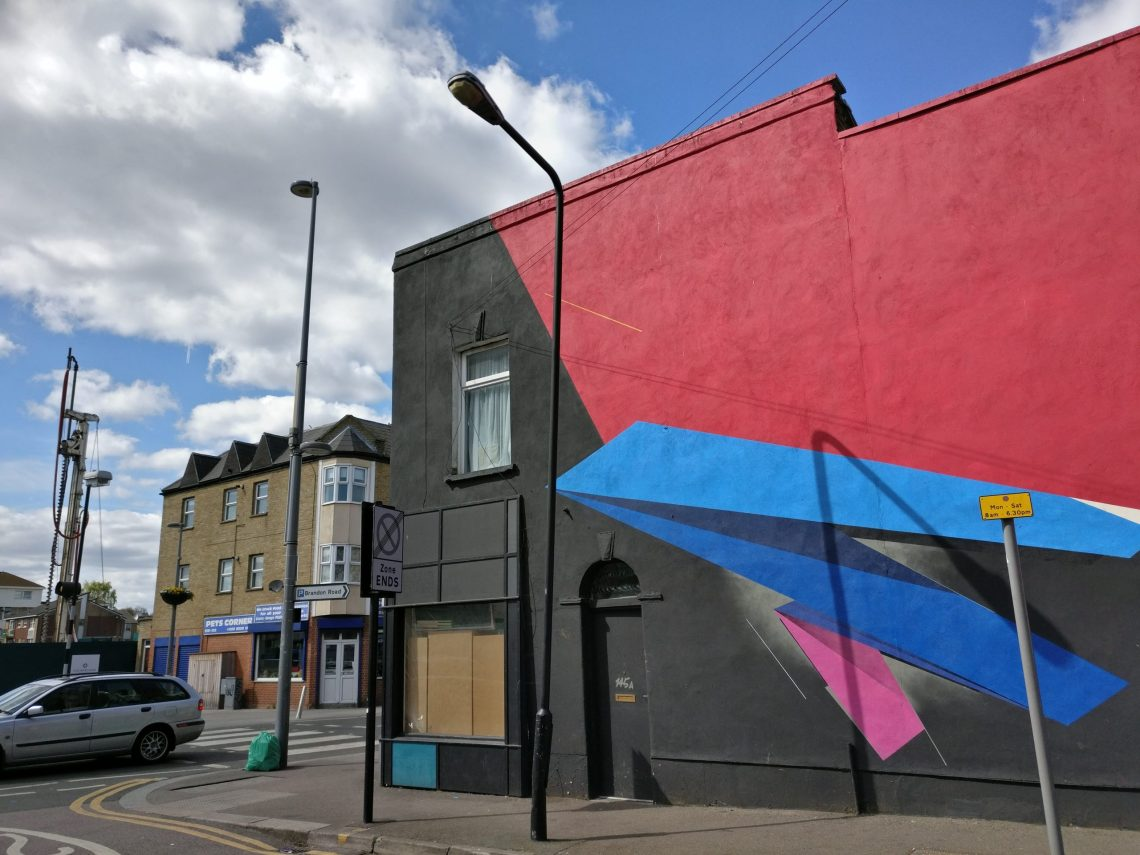 Mural by Remi Rough on Wood Street in Walthamstow