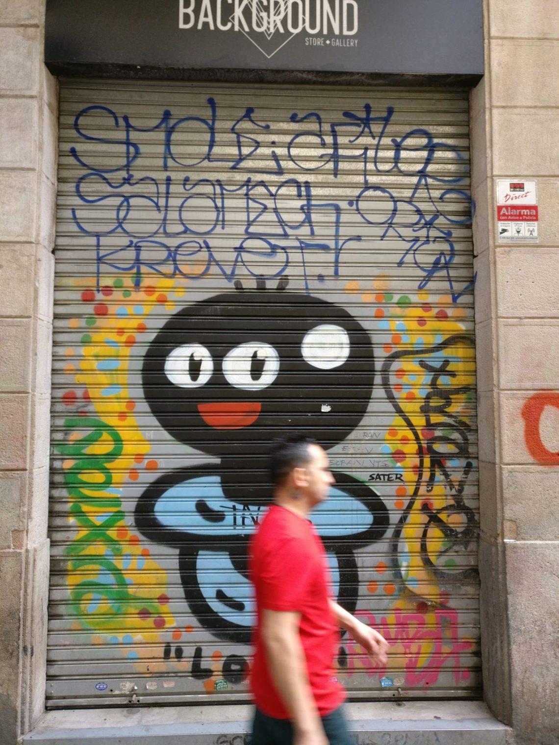 Barcelona street art by El Xupet Negre