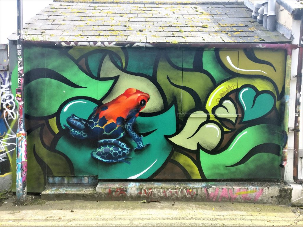 Work by Artista in Brighton. She is on our list of best British street artists