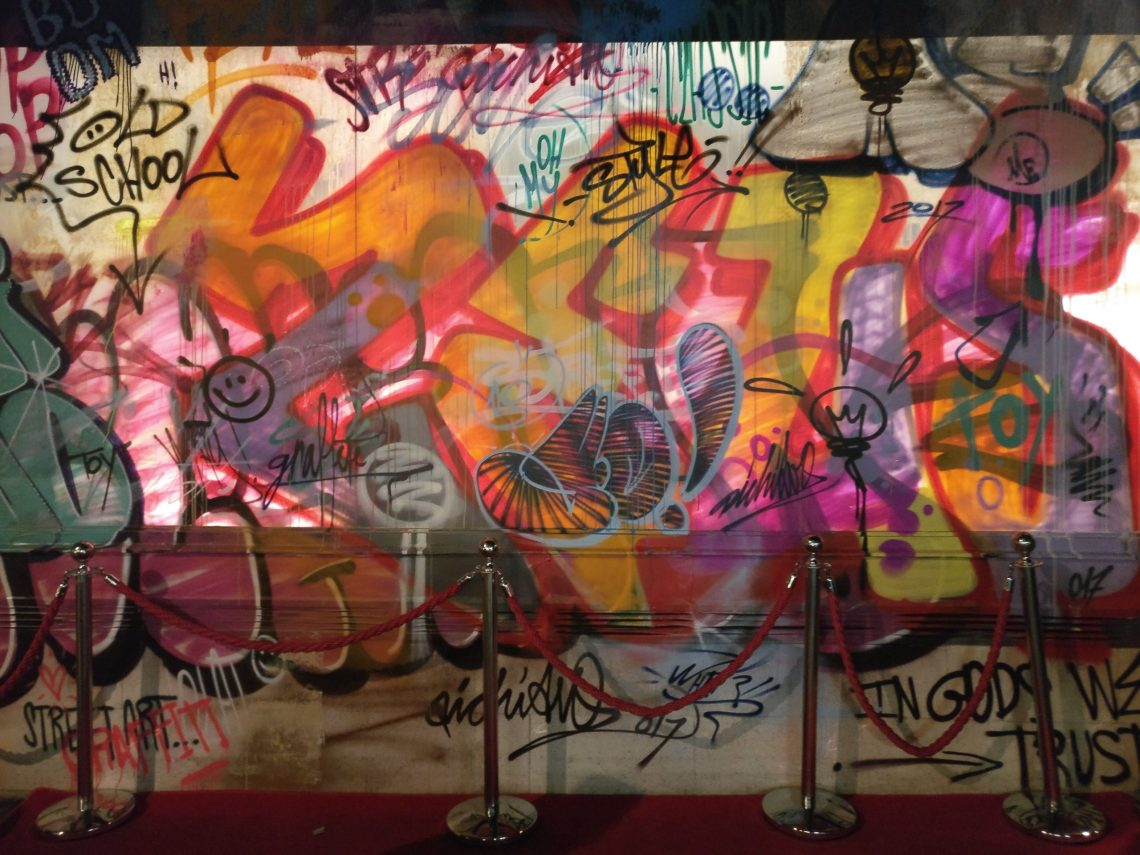 Graffiti by Pichiavo on the outside of the Unit Gallery in London