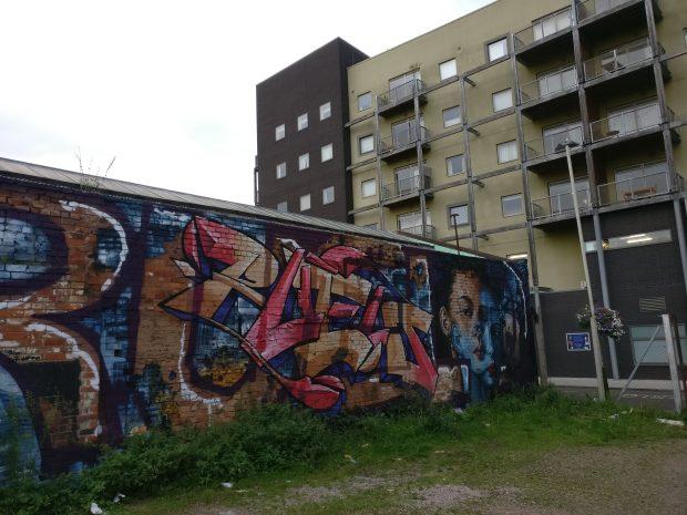 graffiti leicester
