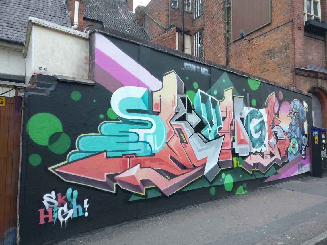 sky high roo graffiti leicester
