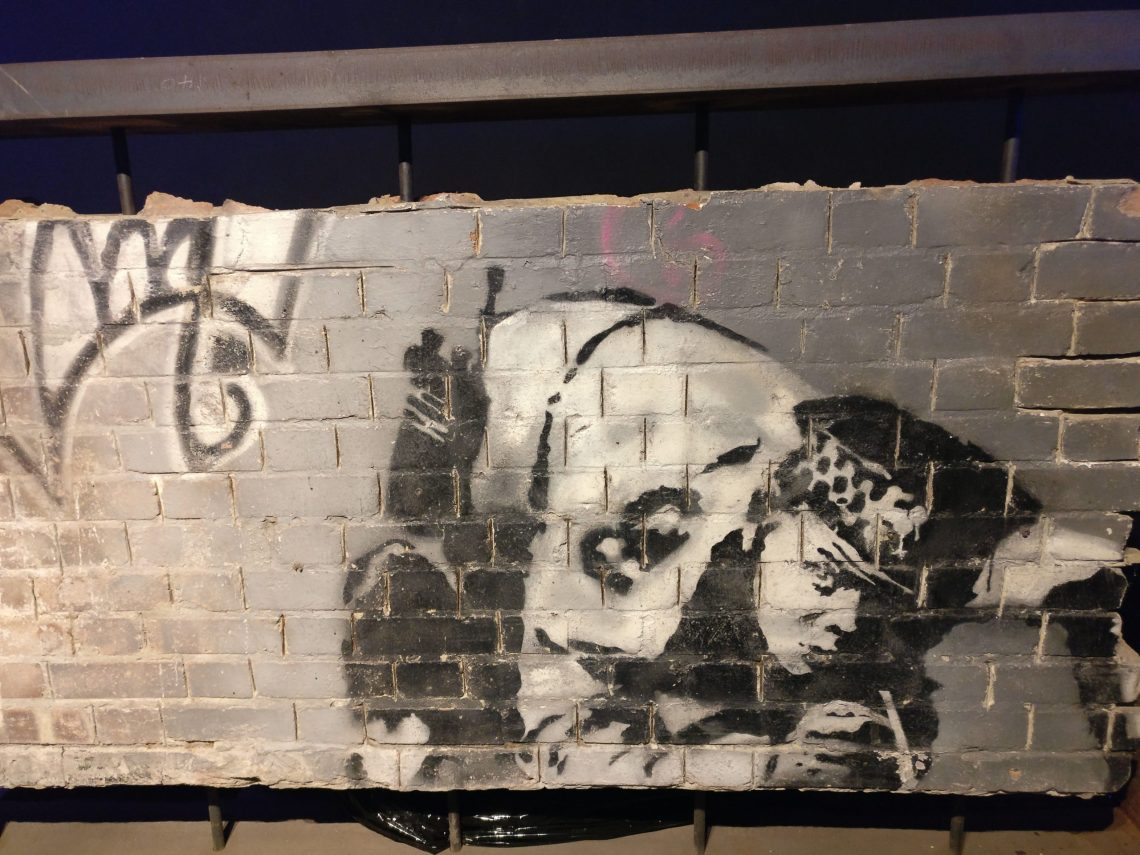 Banksy's restored Snorting Copper