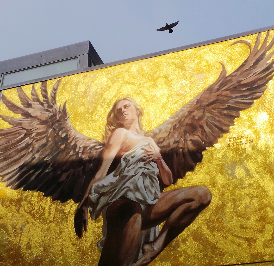 The Angel Mural by Cosmo Sarson