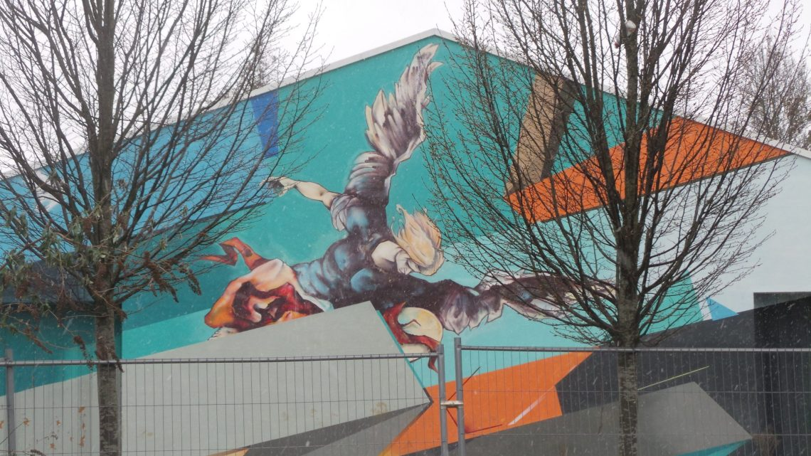 Fall of the Rebel Angels by artist Remi Rough in Dulwich Village