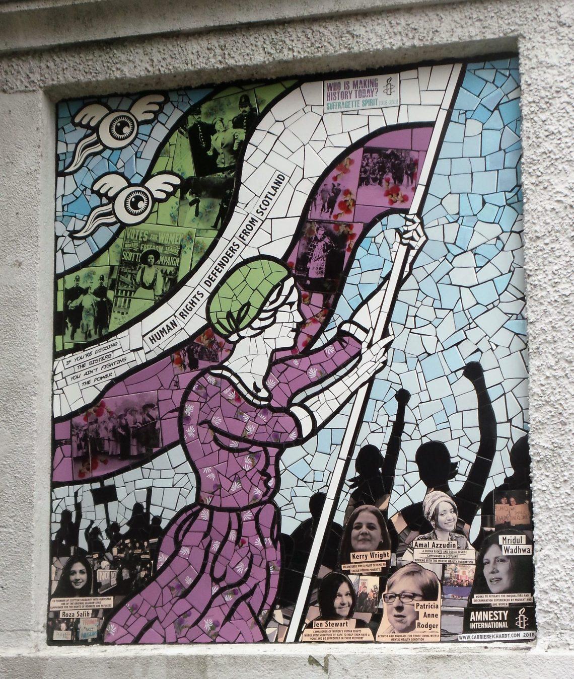 Suffragette Spirit mural by Carrie Reichardt in Aberdeen