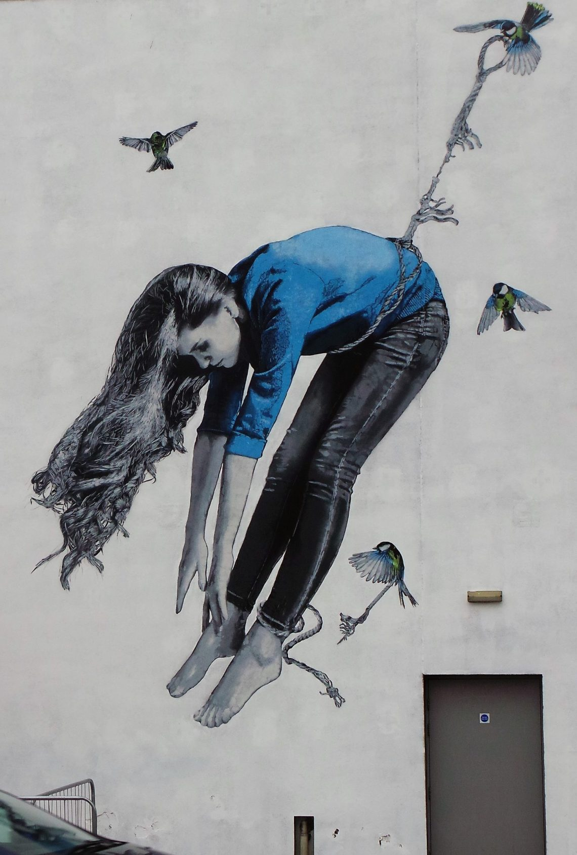 Street art mural by Snik on Virginia Street in Aberdeen