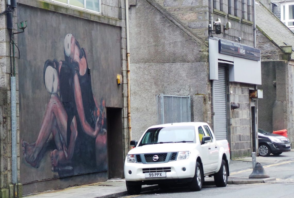 street art by Milu Correch created for Nuart Aberdeen 2018