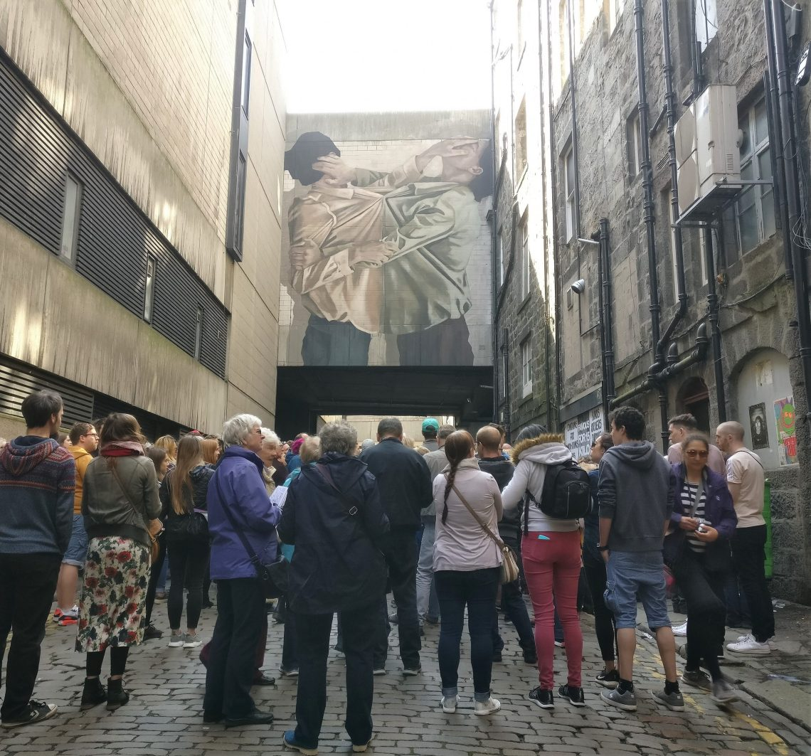 hyuro mural created for nuart aberdeen in 2018