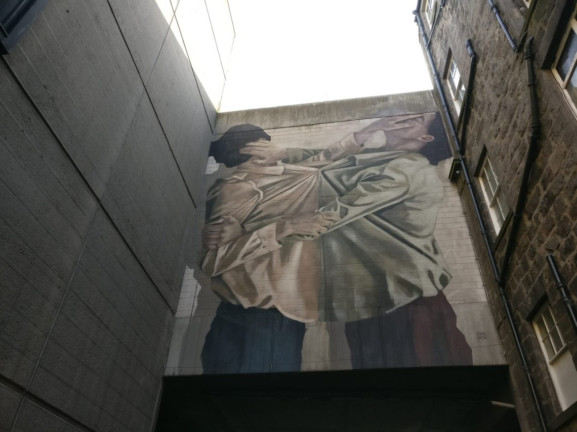 Hyuro mural in Aberdeen
