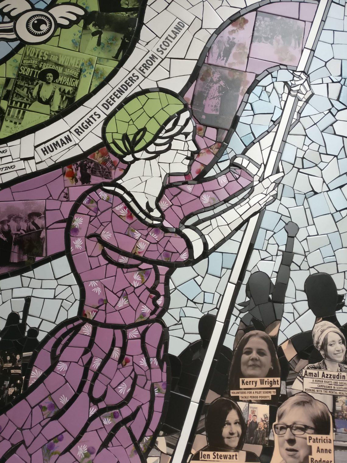 'Suffragette Spirit' mural by Carrie Reichardt