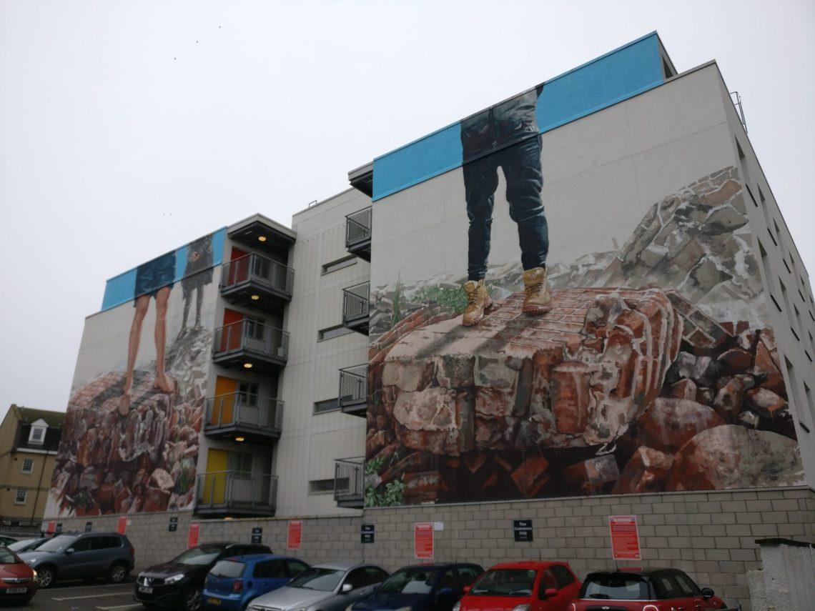 Fintan Magee street art mural in Aberdeen