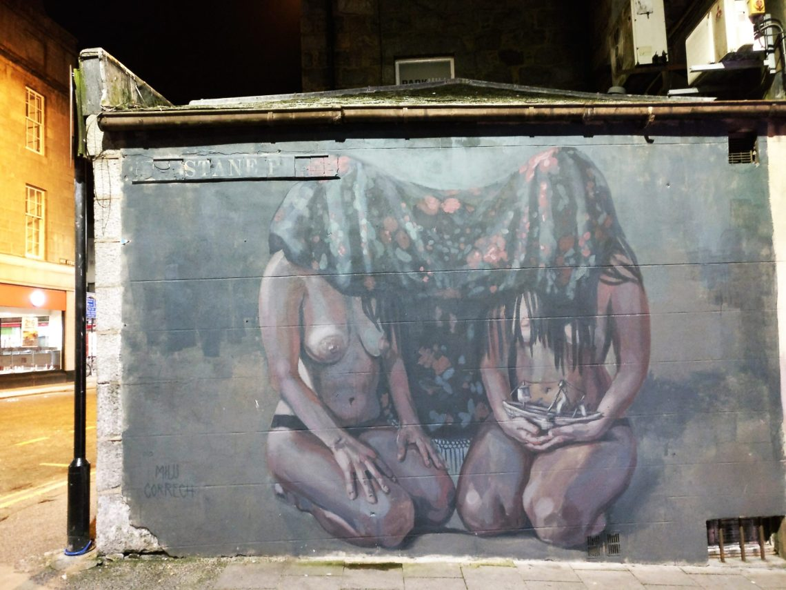 Street art by Milu Correch on Langstane Place in Aberdeen