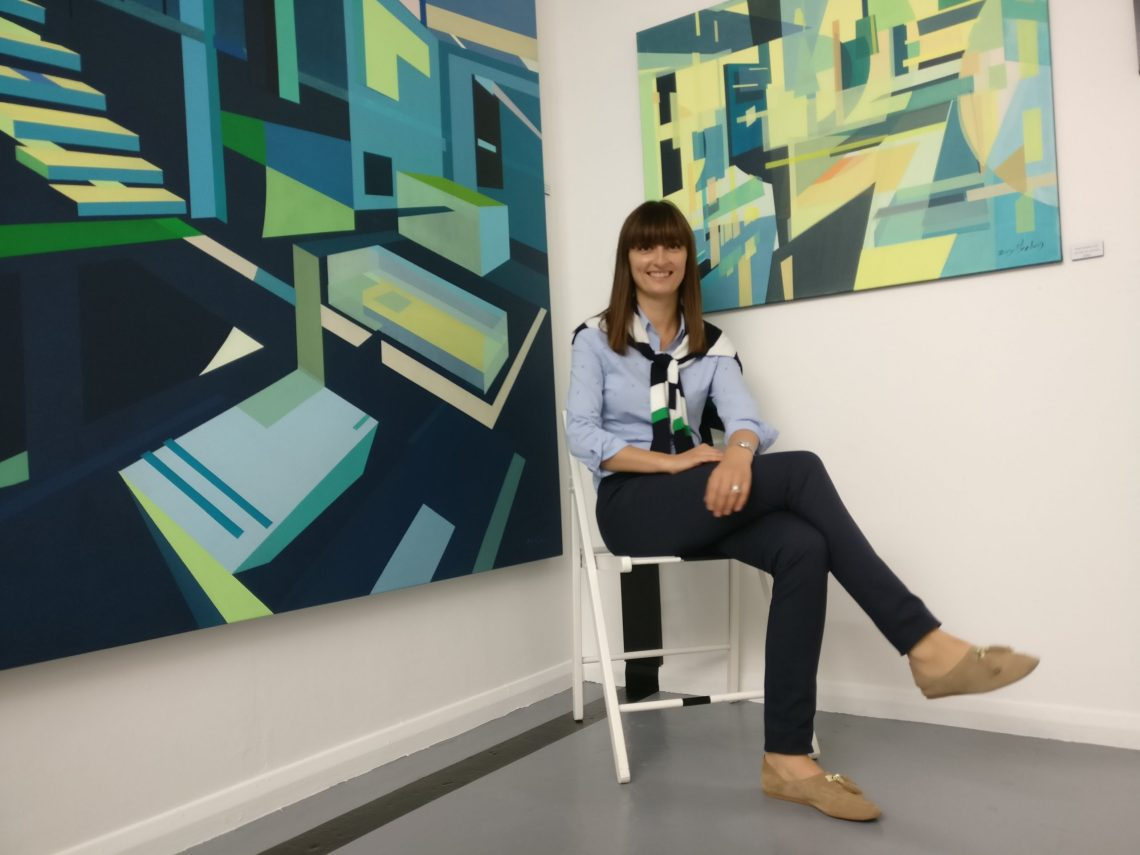 Evy Meehan in the Wimbledon Art Studios