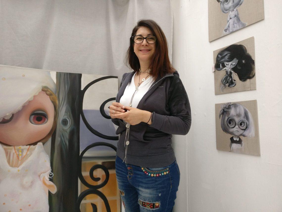 Dunja S. R. in the Wimbledon Art Studios
