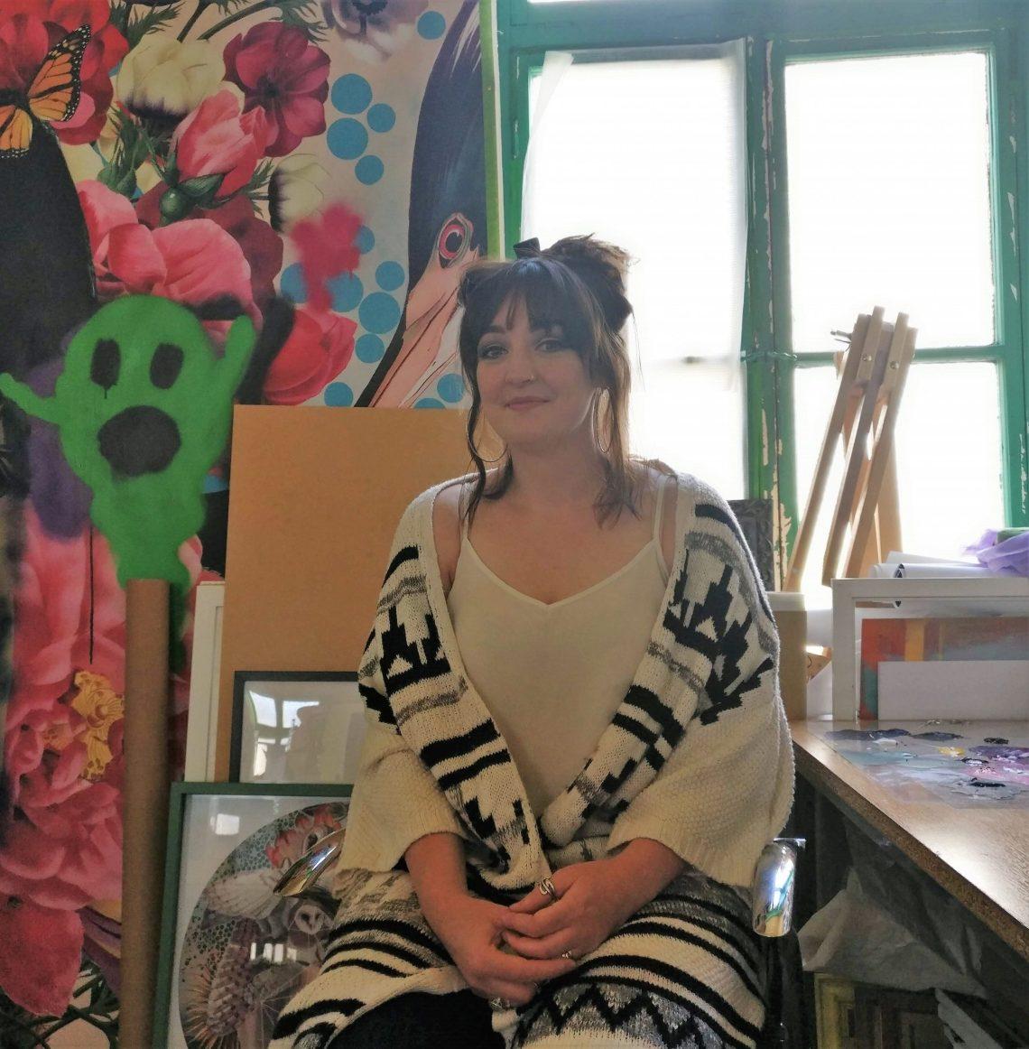 Alexandra Gallagher in her studio 3