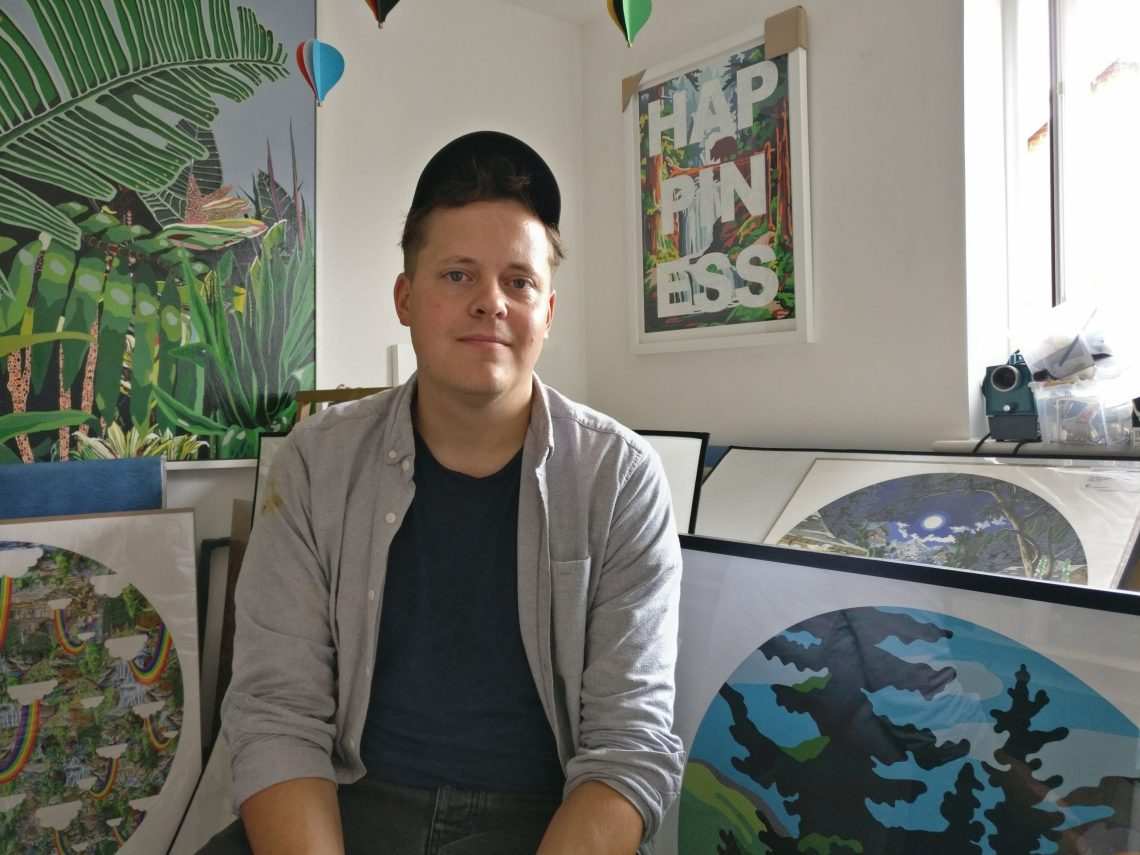 benjamin thomas taylor is an artist at the Enter Gallery in Brighton