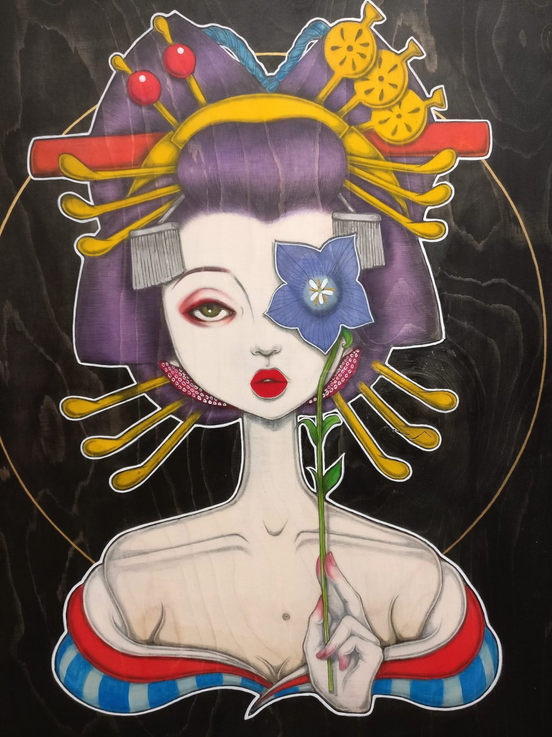 A painting by Saki & Bitches from Hana Machi