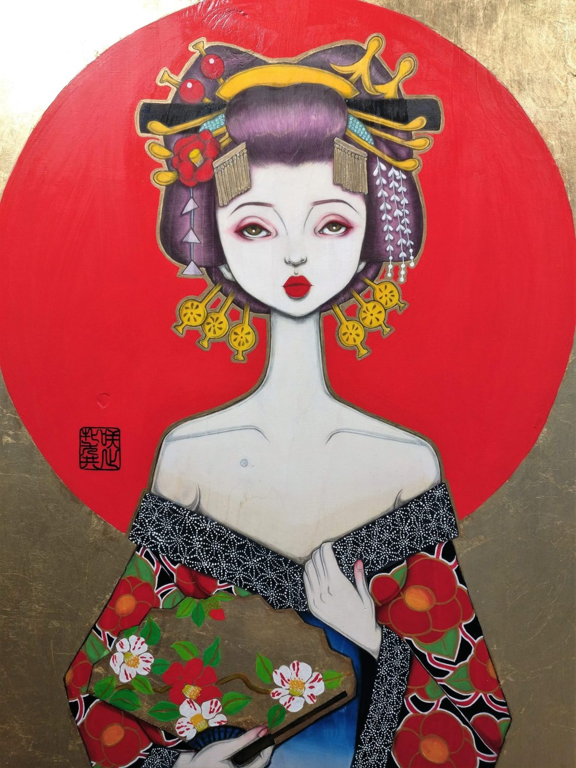 A Yujo painting by Saki & Bitches