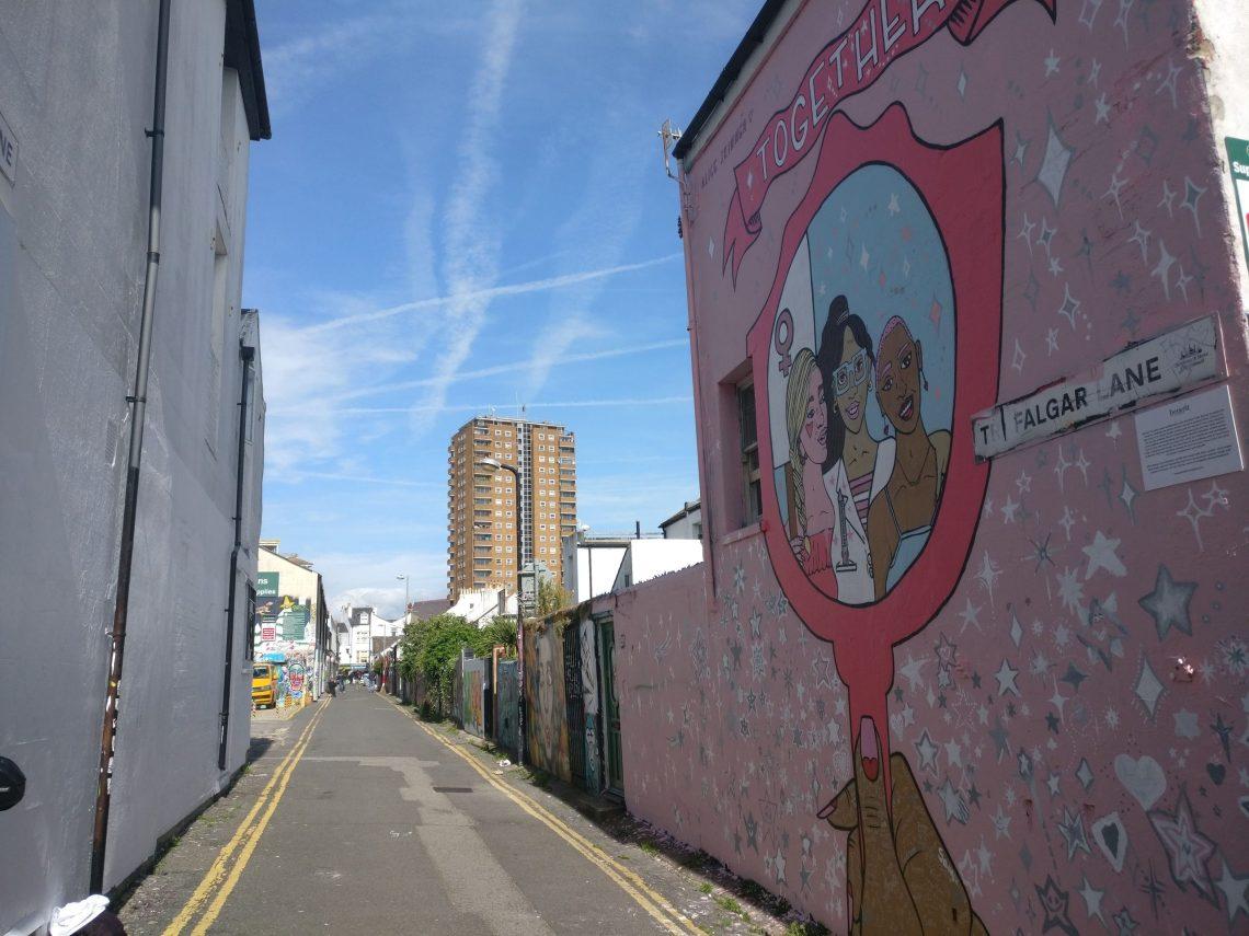 alice skinner mural in brighton