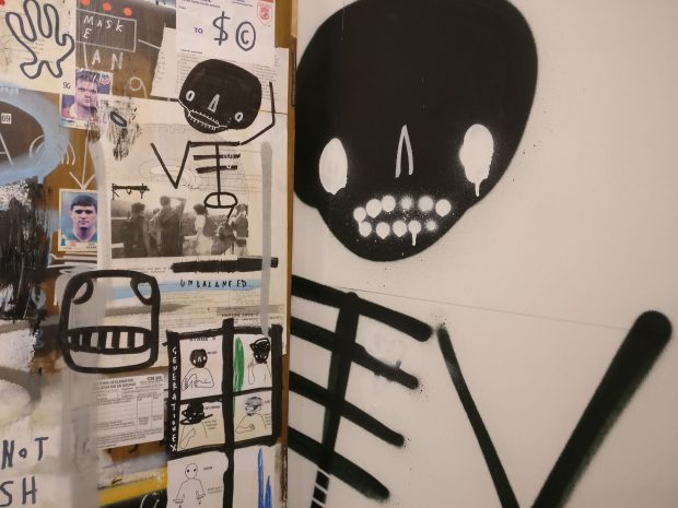 skeleton cardboard not in use