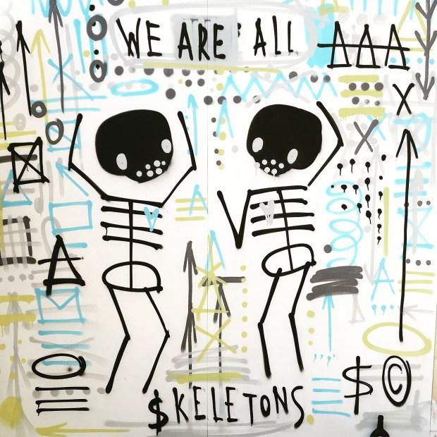 skeleton cardboard
