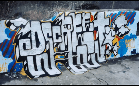 Graffiti piece by Dscreet from 2004