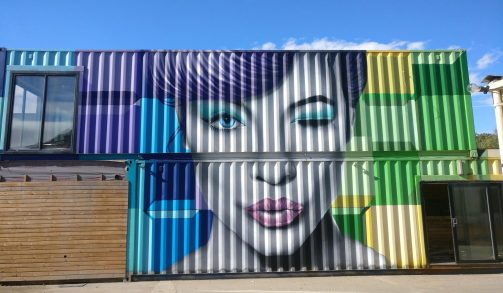 Colourful Lindsey Lohan portrait on Bardwell Road