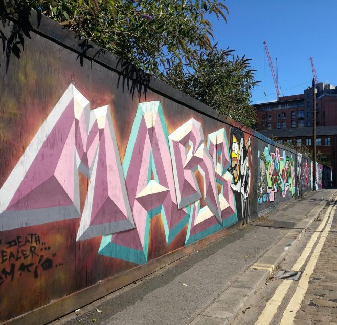 Graffiti from MARS on Brownell Street
