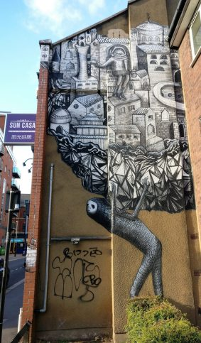 Piece from Phlegm on Westfield Terrace