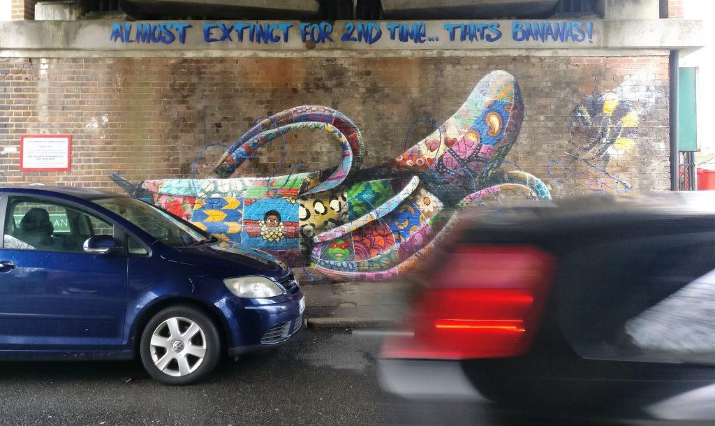Street art by Louis Masai in Penge