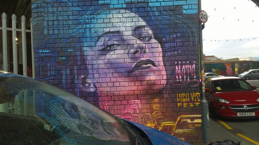 Street art by N4T4 in Digbeth