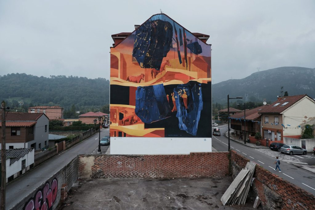 Mural by Matth Velvet in Oviedo